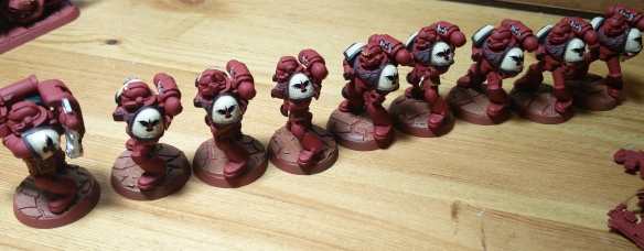 WIP Blood Ravens, patiently queuing for their dipping and mat varnish